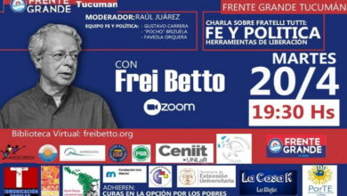 Photo of Charla con Frei Betto sobre Fratelli Tutti