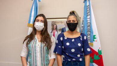 Photo of Lucha Olímpica : Florencia López recibió a  la deportista Evelin Sosa